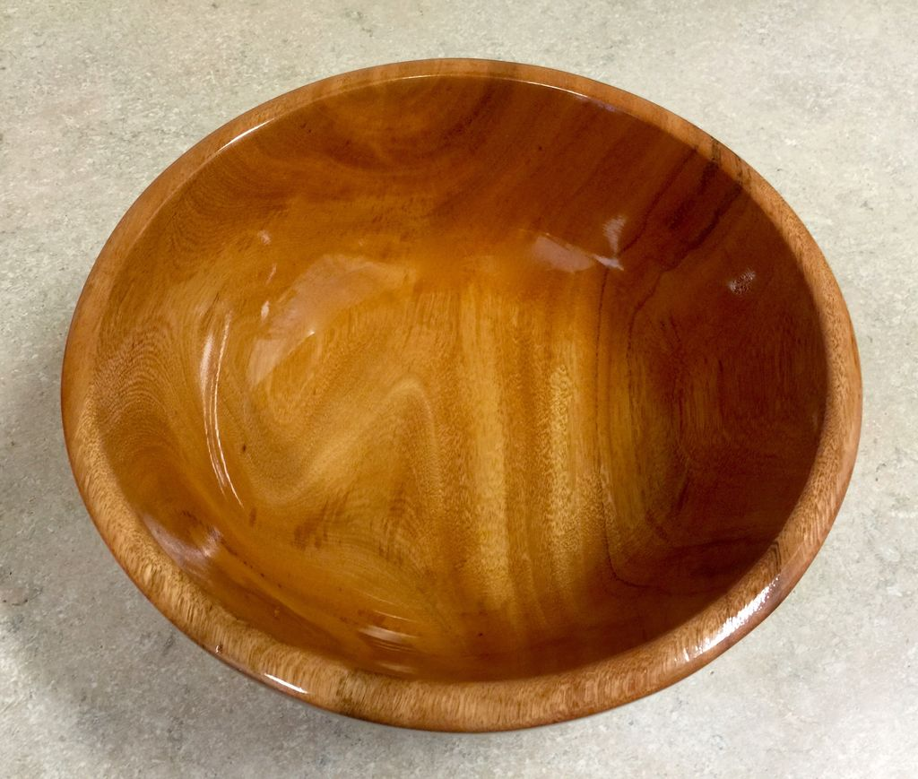 "Loren Wolfe Bowl, Rainbow Eucalyptus (10.25""D x 3.75""H) (#319)"