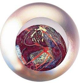 """Rare Earth Gallery Paperweight, Mars (Celestial, 3""""D, Light Base, Velvet Box)"""