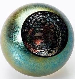"Rare Earth Gallery Paperweight, Universe (Celestial, 3""D, Light Base, Velvet Box)"