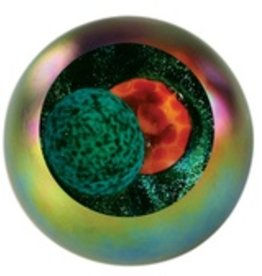 "Rare Earth Gallery Paperweight, Solar Eclipse (Celestial, 3""D, Light Base, Velvet Box)"