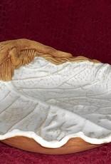 Rare Earth Gallery Dish (Cabbage Leaf, Gator, #94G)
