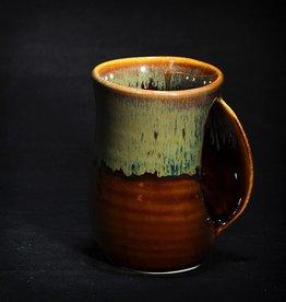 Rare Earth Gallery Mug, Handwarmer, RIGHT HANDED (Approx 14 oz)