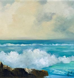 Carol Kepp Splash (Original Oil, 9 x 12, Signed)