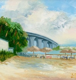 Carol Kepp The Bridge (Original Oil, 8 x 10, Framed, Signed)