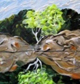 """Rare Earth Gallery Summer Dreams (Original Acrylic, 4"""" SQ)"""