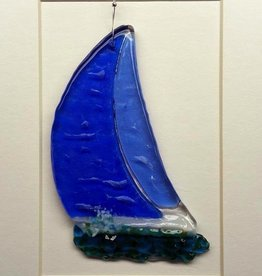 "Rare Earth Gallery Sailboat (Suncatcher, 5""x4"")"