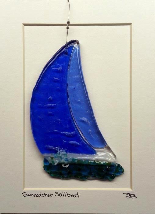 "Rare Earth Gallery Sailboat (Suncatcher, 5""x4"")"