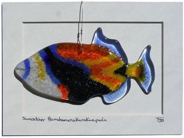 "Rare Earth Gallery Humuhumunukunukuapua'a (Suncatcher, 6""x3"")"