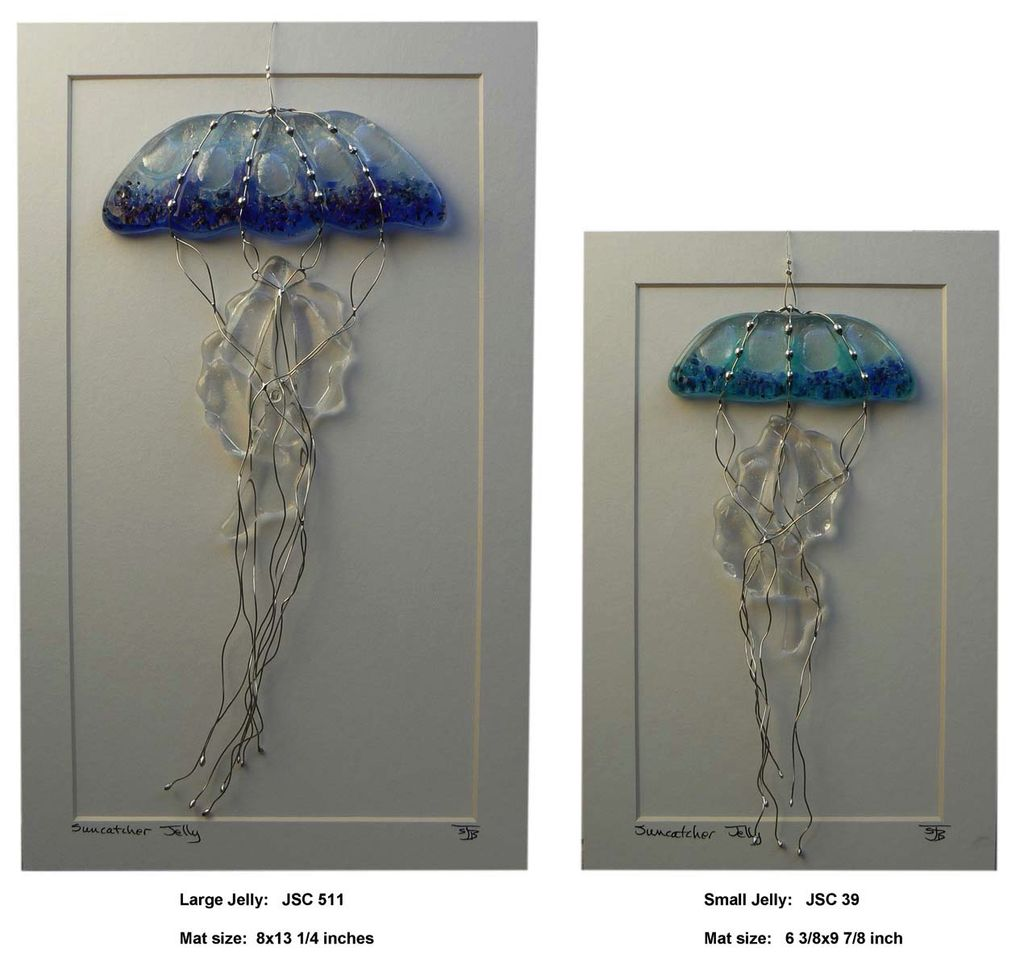 "Rare Earth Gallery Jellyfish (Suncatcher, Lg, 5""x11"")"
