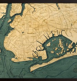 Rare Earth Gallery Brooklyn (Bathymetric 3-D Wood Carved Nautical Chart)
