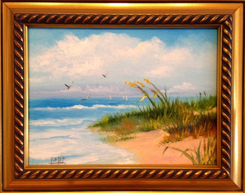Carol Kepp Miniature Original Oils (Framed, Signed)