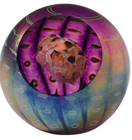 "Rare Earth Gallery Paperweight, Juno Asteroid (Celestral, 3""D, Velvet Box, Light Base)"