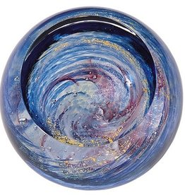 "Rare Earth Gallery Paperweight, Milky Way (Celestial, 3""D, Light Base, Velvet Box)"