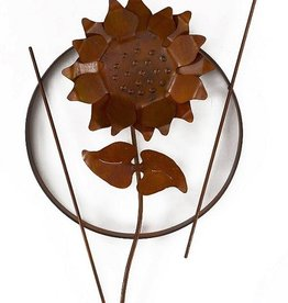 Rare Earth Gallery Single Sunflower (Metal Wall Sculpture #1201)