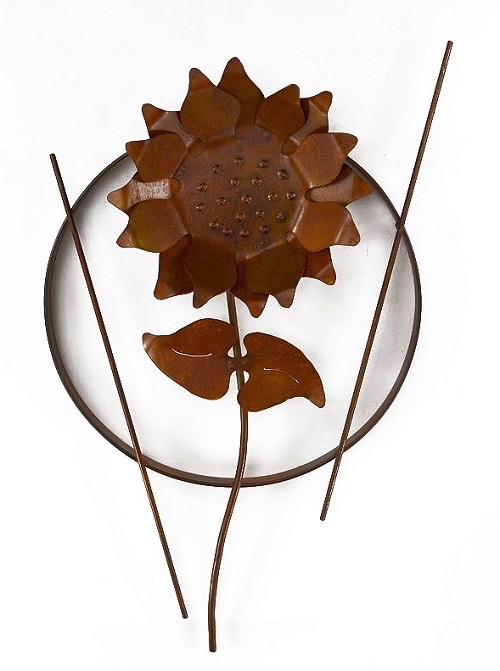 Rare Earth Gallery Single Sunflower (Metal Wall Sculpture #1201)
