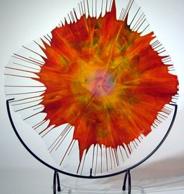 Rare Earth Gallery Orange Flare EnergyWeb w/Stand