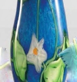 Rare Earth Gallery Vase, Flower Leaf Art Glass