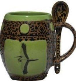 Rare Earth Gallery Mug (w/Spoon) Cranes