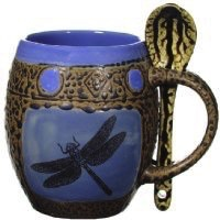 Rare Earth Gallery Mug (w/Spoon) Dragonfly