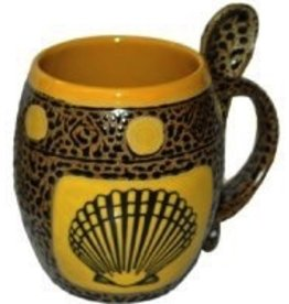 Rare Earth Gallery Mug (w/Spoon) Sea Shell