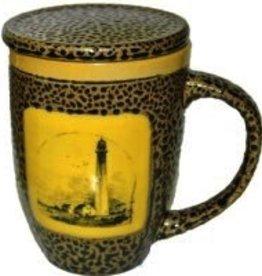 Rare Earth Gallery Mug (w/Lid-Coaster) Lighthouse