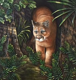 Carol Merritt Panther on the Prowl (Original Acrylic, Signed, Approx 30x40)