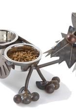 "Rare Earth Gallery Junkyard Dog, Terrier, Double 4"" Bowls"