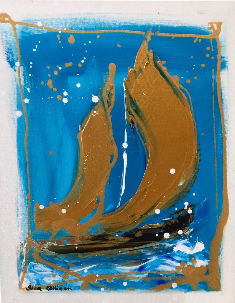 Lisa Jill Allison Dusk (Original Acrylic, Signed, 16x20)