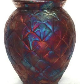 Rare Earth Gallery Vase (Raku, Pineapple, #092)