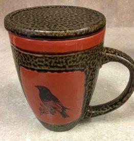 Rare Earth Gallery Mug (w/Lid-Coaster) Songbird