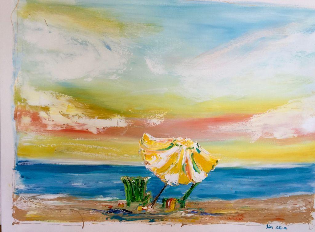 Lisa Jill Allison Simple Pleasures (Original Acrylic, Signed, 48x36)