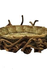 "Rare Earth Gallery Pandan Basket (Driftwood, Natural, 16""x14""x5"")"