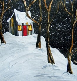 "Rare Earth Gallery Winter Twinkle (Original Acrylic, 4"" SQ)"