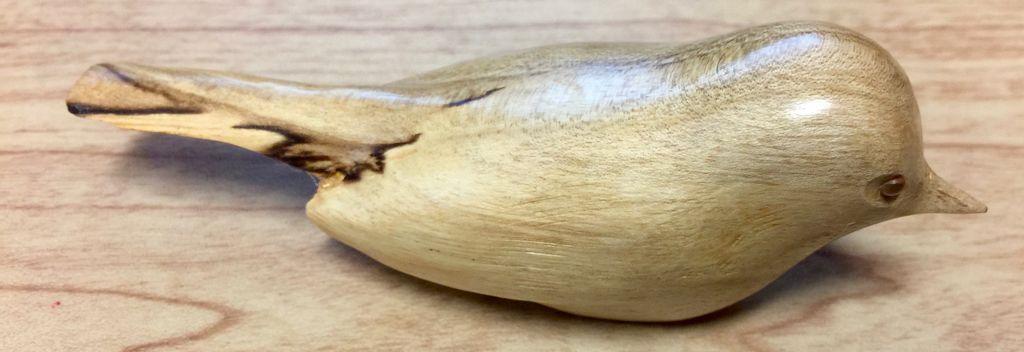 William Lohnes Pine Siskin, English Walnut (#4562)
