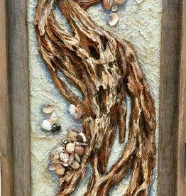 Carol Merritt Driftwood (Original Acrylic, Signed, Approx 13x23)