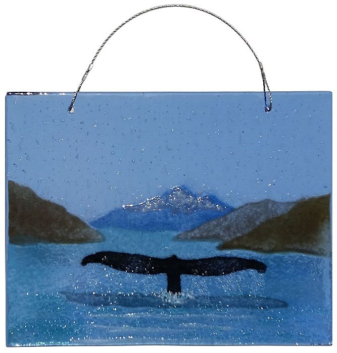 "Rare Earth Gallery Whale Tail (Suncatcher, 6""x4.5"")"