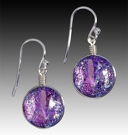 Rare Earth Gallery Earrings, Venus (Dichroic Art Glass, Assorted Colors, #297)