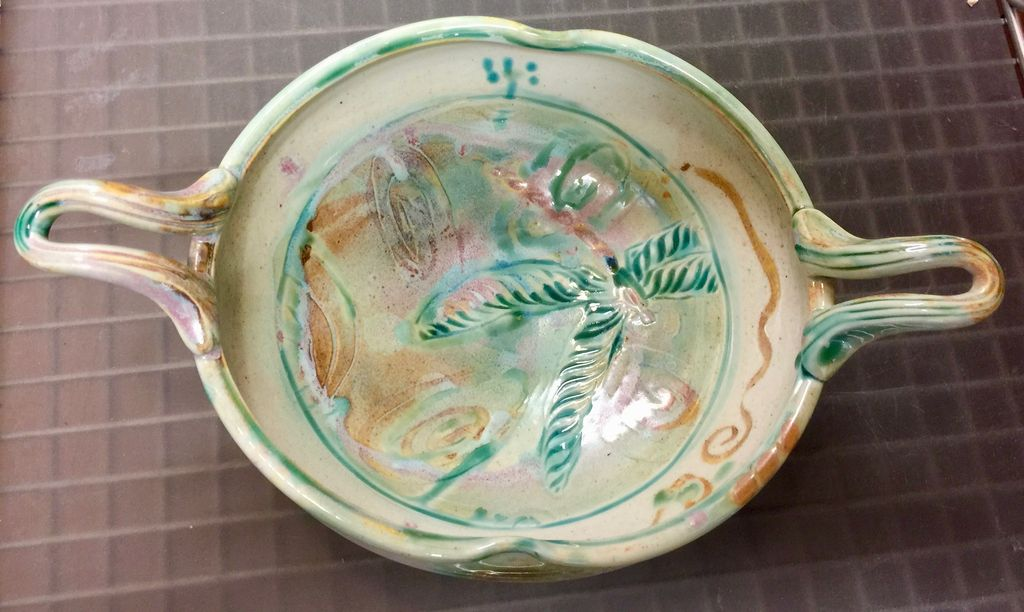 Gail Snively Bowl (w/Handles, #344)