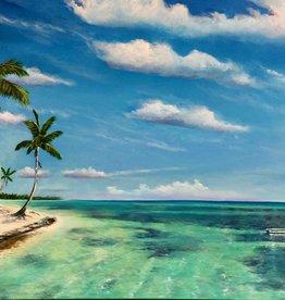 Mark Johnson Tropical Breeze (Original Oil, 30x48)