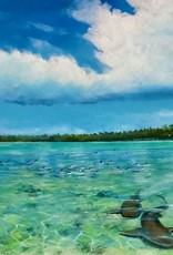 Mark Johnson Nervous Waters (Original Oil, 16x40)