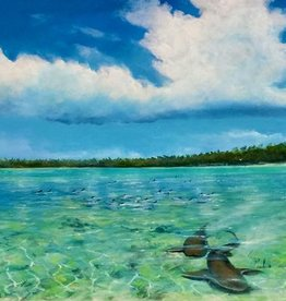 Mark Johnson Nervous Waters (Original Oil, 16x40)