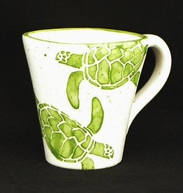 Rare Earth Gallery Mug, Sea Turtle (Green,  14oz)
