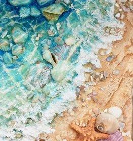 Carol Merritt Shells Galore (Original Acrylic, Signed, 10x20)