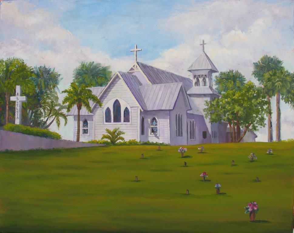 Ruthann Hewson All Saints' Episcopal Church (Print, Matted, 11x14)