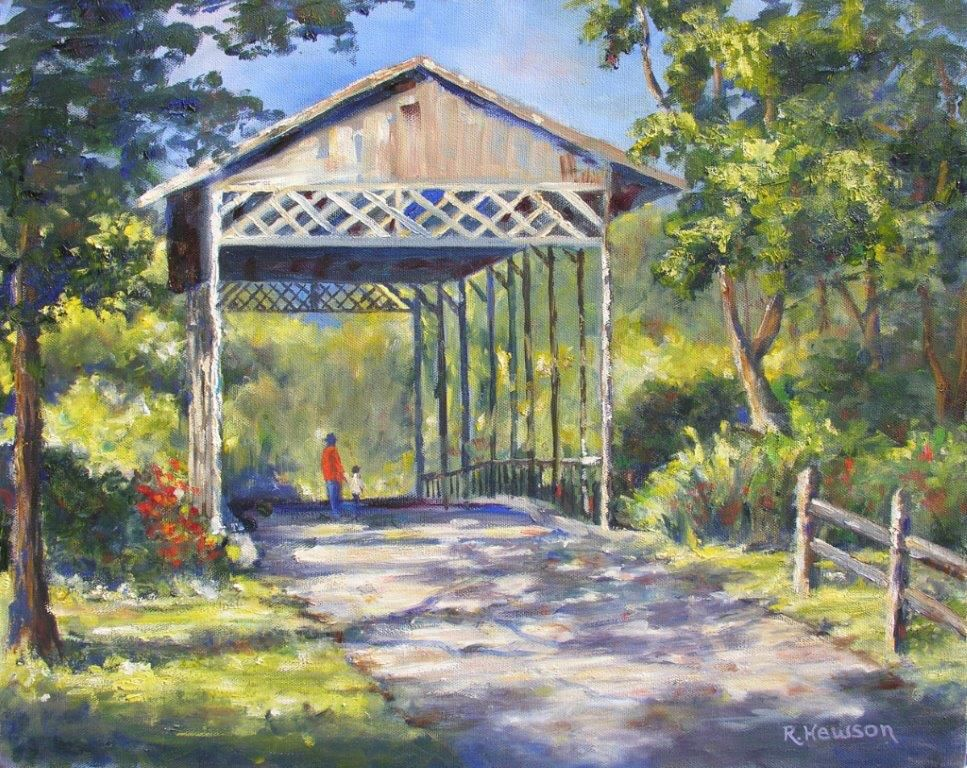 Ruthann Hewson Floridian Covered Bridge (Print, Matted, 11x14)