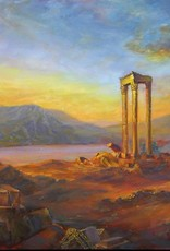 Ruthann Hewson Ruins of Baalbek (copy of Frederic Church Oil, Print, Matted, 11x14)