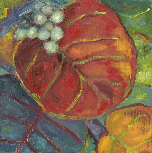 Mimi McCallum Primary Sea Grapes (Orange, Yellow, or Red, 18x18, Giclee)