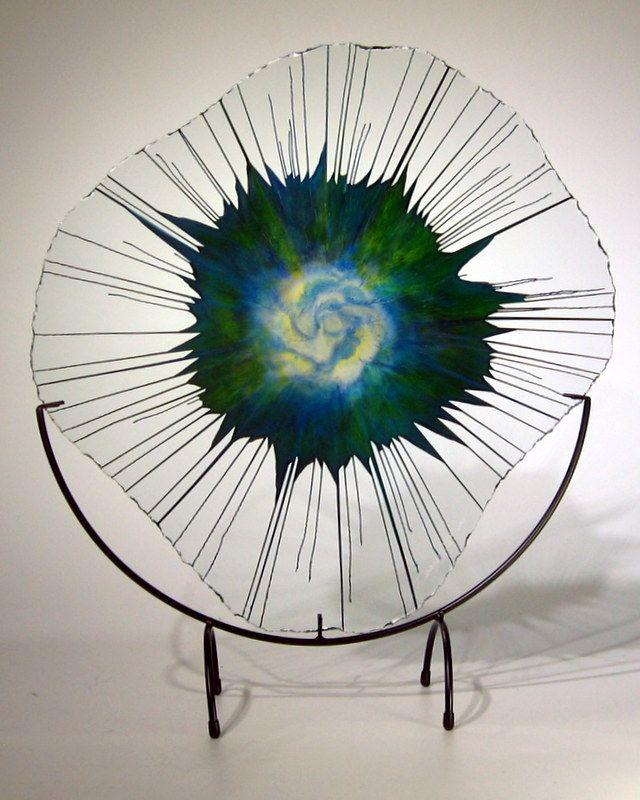 Rare Earth Gallery Tropical Breeze (Lg, EnergyWeb w/ Half-Moon Stand)