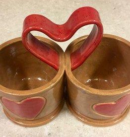 Karen Stern Twin Condiment Dish (Heart, #1719)