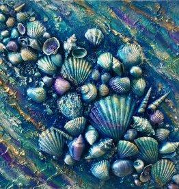 Carol Merritt Rainbow Of The Sea (Original Acrylic, Signed, Approx 12x12)